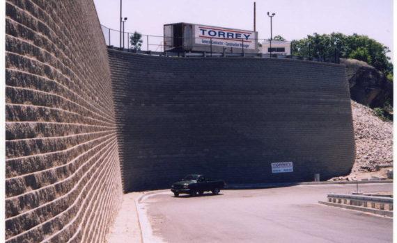 42' segmental retaining wall