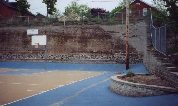 Recreational site with 17' exposed wall height