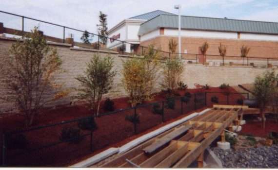 Landscape segmental retaining wall