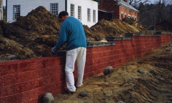 Residential segmental wall