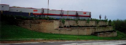 Tiered wall with over 30' combined height